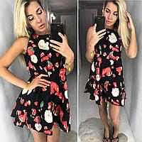 Женское модное свободное платье с принтом