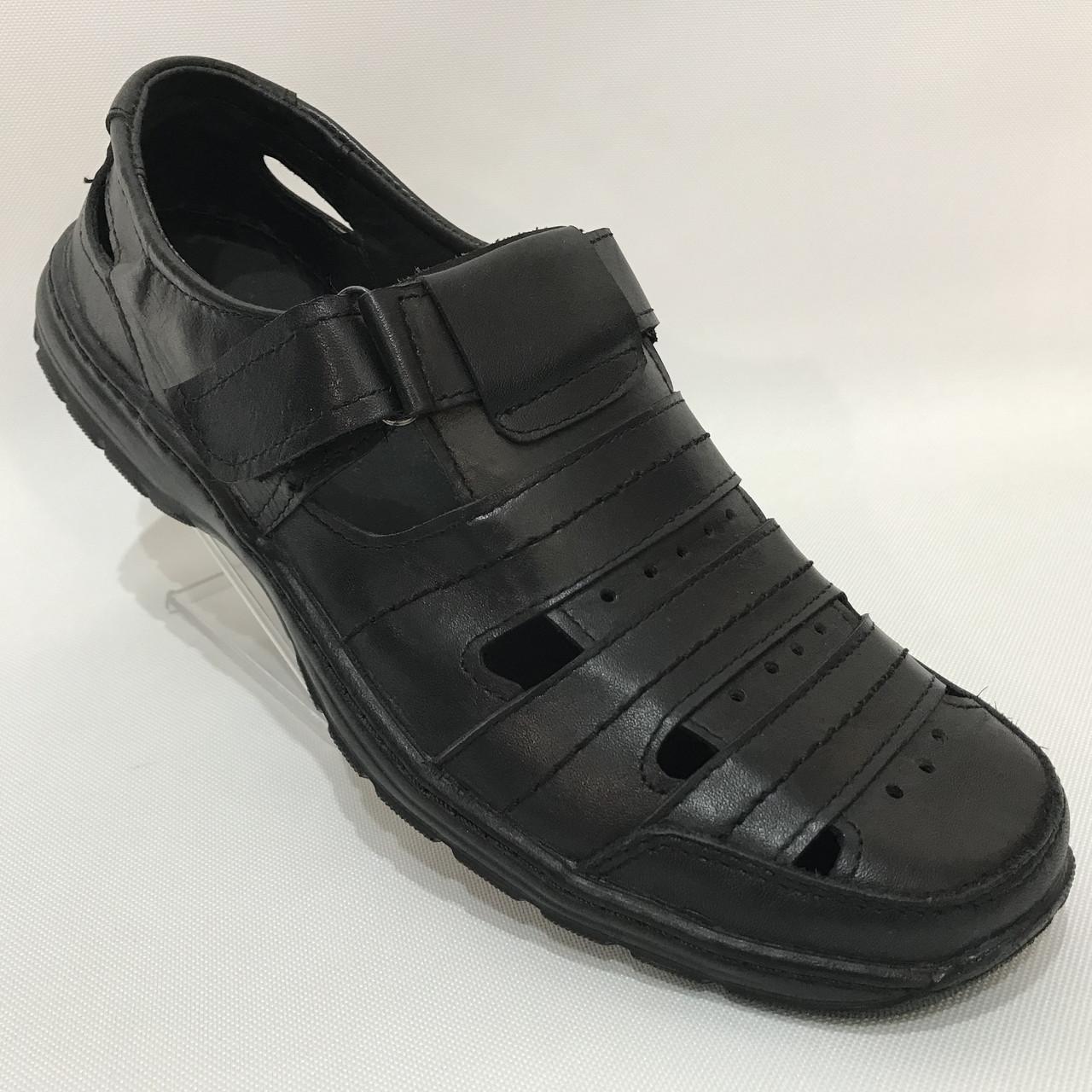Мужские кожаные туфли летние