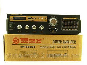Усилитель звука 30W рэковый Max SN-888BT c Bluetooth FM MP3