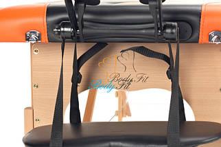 Массажный стол BodyFit, 3 сегментный,2-цветный,дервянный Оранжевый, фото 3