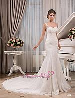 Чарующее свадебное платье Рыбка. Белый, айвори