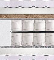 Матрас София нагрузка до 130 кг Matroluxe Усиленный блок независимых пружин Pocket Spring с кокосовой койрой