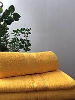 Махровое полотенце 70х140, 100% хлопок 550 гр/м2, Пакистан, Желтый