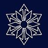 Снежинка светодиодная SL029