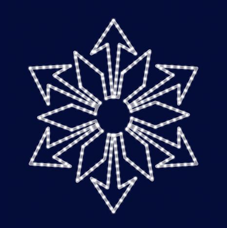 Снежинка светодиодная SL029, фото 2
