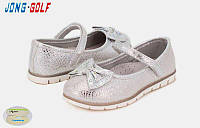 Нарядные серебристые туфли