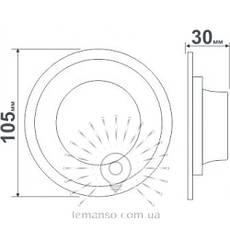 Точечный врезной светильник со светодиодной подсветкой Иний 3+3W Lemanso, фото 2