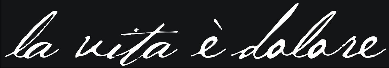 Наклейка - La vita è dolore  - белая
