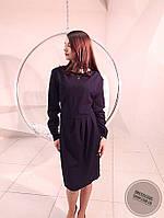 Синее платье с длинным рукавом большого размера