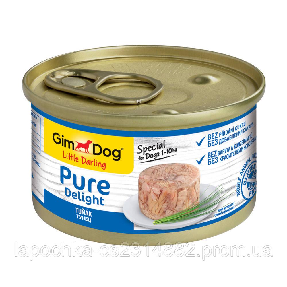 Консервы GimDog LD Pure Delight для собак с кусочками тунца в желе, 85 г