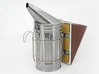 Дымарь пасечный из нержавеющей стали, мех съемный, ограждение из прутка, фото 1