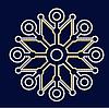 Снежинка светодиодная SL055