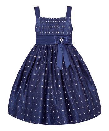 Очень красивое и пышное синее платье с блестками (Размер 4Т) American Princess (США)