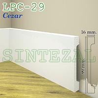 Широкий прямой плинтус Cezar Elegance LPC-29, H=99 мм.