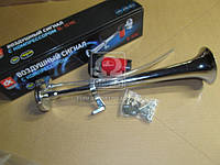 Сигнал дудка с компрессором 1шт метал 450мм 12V