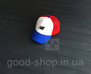 Кепка Тракер New Balance синего, белого и красного цвета
