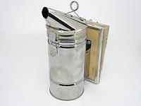 Дымарь пасечный из нержавеющей стали, мех кожа, фото 1