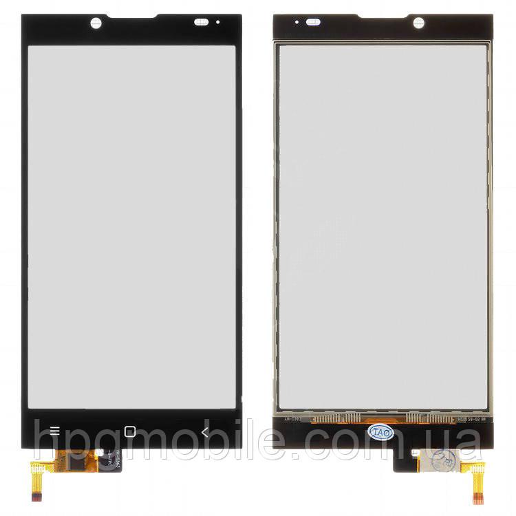 Сенсорный экран для Prestigio MultiPhone 5506 Grace Q5, черный, оригинал
