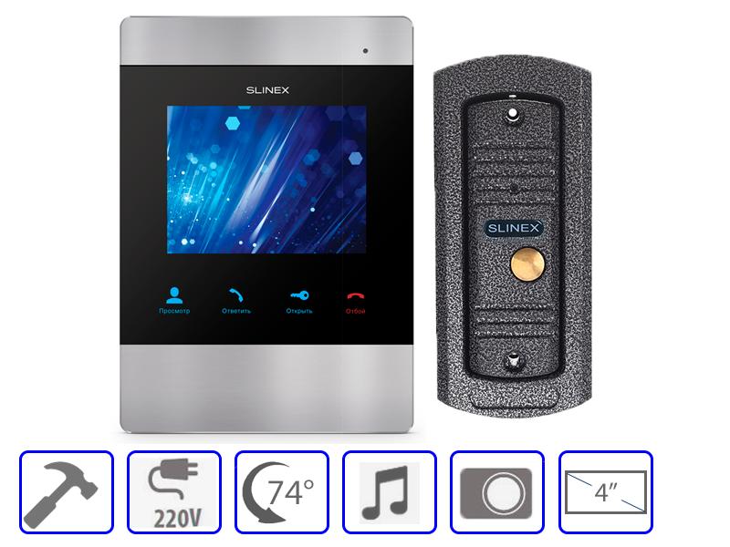 Комплект домофонной системы Slinex SM-04M + Slinex ML-16 HR