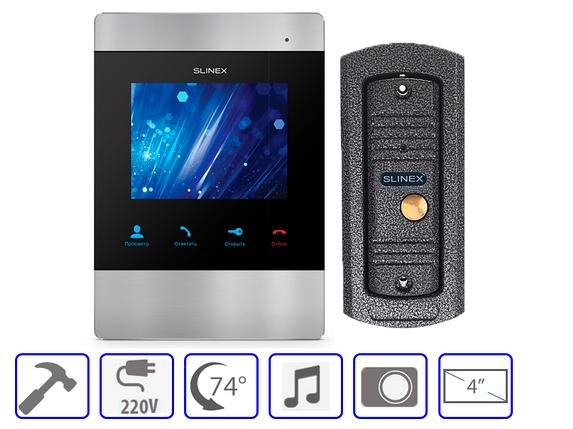 Комплект домофонной системы Slinex SM-04M + Slinex ML-16 HR, фото 2