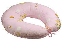 Подушка для кормления ребенка на завязках  (наполнитель - силиконовые шарики) ТМ Руно 909 розовый