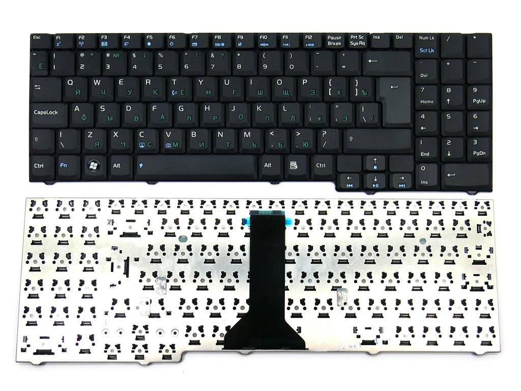 Клавиатура для ноутбука ASUS F7S ( RU Black ). Оригинальная клавиатура