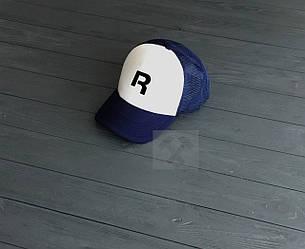 Спортивная кепка Reebok, Рибок, тракер, летняя кепка, мужская, женская, синего и белого цвета, копия