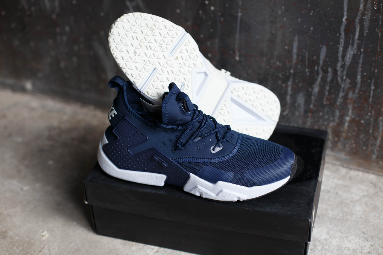 Кроссовки мужские Nike Huarache RUN Ultra.Синие,белые
