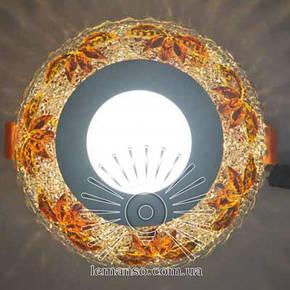 Led светильник врезной со светодиодной подсветкой Пальма 3+3W Lemanso, фото 2