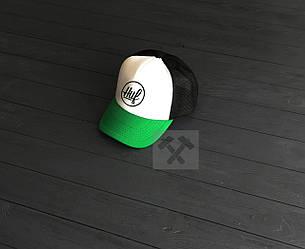 Кепка Тракер Huf зеленого, белого и черного цвета (люкс копия)