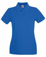Женская рубашка поло Премиум Ярко-Синий