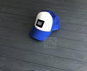 Кепка Тракер Huf синего и белого цвета (люкс копия)