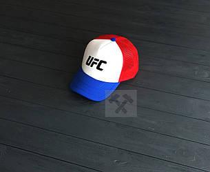 Кепка Тракер ufc синего, белого и красного цвета