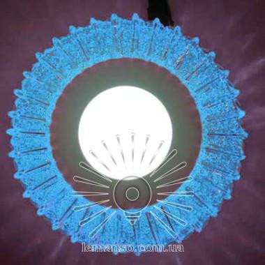 Точечный врезной светильник со светодиодной подсветкой Луна 3+3W Lemanso