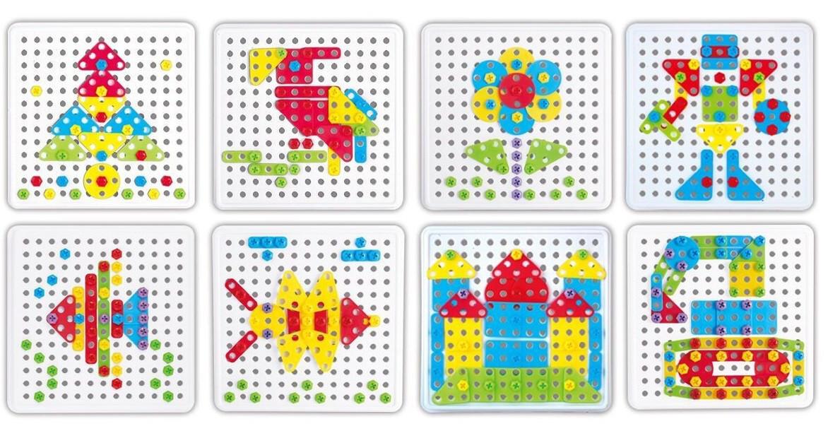 """Пазл TU LE HUI Screw Puzzle конструктор """"""""Болтовая мозаика"""""""" с отверткой 180 шт (SYN0596)"""