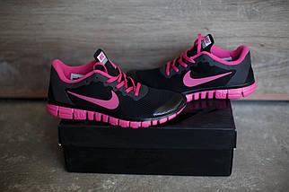 Кроссовки Nike Free 3.0.Розовые с черным.сетка, фото 2