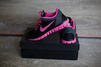 Кроссовки Nike Free 3.0.Розовые с черным.сетка, фото 3