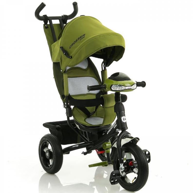 Велосипед коляска Azimut Crosser T-1 air оливковый, фото 1