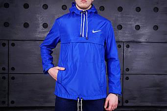 Мужской анорак Nike синего цвета