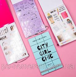 Книга с наклейками Стикербук Sticker book for real City Girl Chic, Chicardi 33 листа