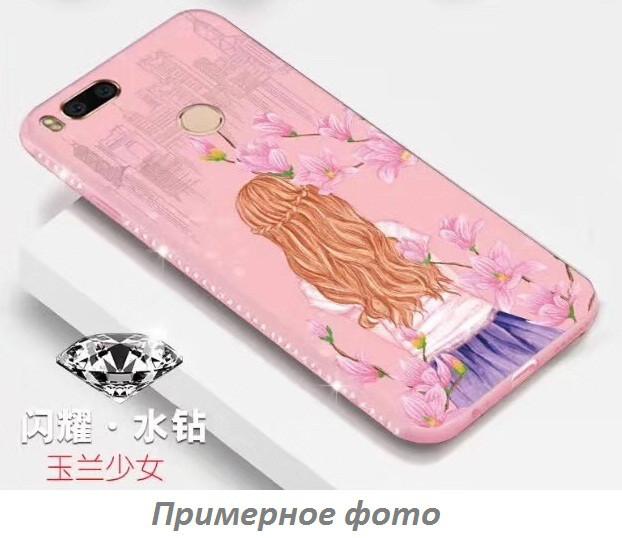 TPU чехол Magic Girl со стразами для Apple iPhone 7 plus / 8 plus (5.5