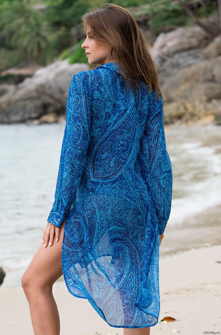 8faabf256e3 Элегантное платье-рубашка из шифона. Италия. Mia Mia Ривьера 8257 (видео)