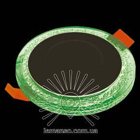Led светильник круг со светодиодной зеленой подсветкой Бульбашки 3+3W Lemanso , фото 2