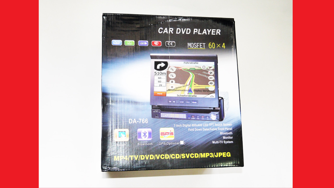 "1din Pioneer DA-766 7""Экран+DVD+USB+TV+Bluetooth"