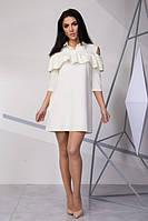 Стильное платье молочного цвета