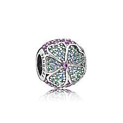 Серебряный шарм «Цветы тропиков» в стиле Pandora
