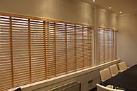 Деревянные жалюзи для офиса, фото 1