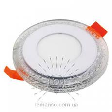 Led светильник круг со светодиодной красной подсветкой Бульбашки 3+3W Lemanso, фото 3