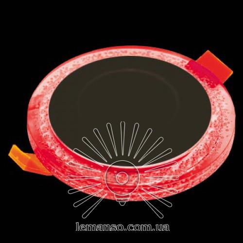 Led светильник круг со светодиодной красной подсветкой Бульбашки 3+3W Lemanso