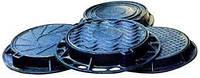 Люк каналізаційний важкий Т з замком (С250 Київенерго)